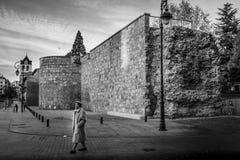 Vieux mur à Léon, en Castille et à Léon images stock