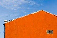 Vieux mur avec l'hublot Photo libre de droits