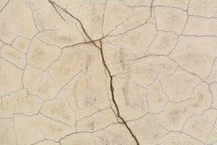 Vieux mur avec la texture de fissures Images stock