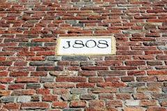 Vieux mur d'église Photos stock