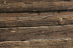 Vieux mur de bois de construction de grange en bois Image libre de droits