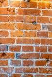 Vieux mur de brique rouge Image libre de droits