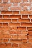 Vieux mur de briques érodé image libre de droits