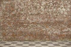 Vieux mur de briques Photo libre de droits