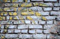 Vieux mur de briques blanc pour le fond Images libres de droits