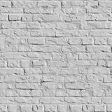 Texture sans joint de mur de briques blanc. Photographie stock libre de droits