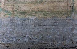 Vieux mur de briques bleu superficiel par les agents Photographie stock libre de droits