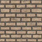 Vieux mur de briques brun clair sans couture (peint à la main) Photos stock