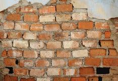 Vieux mur de briques comme fond Photo libre de droits