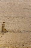 Vieux mur de briques marqué Photo libre de droits