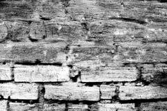 Vieux mur de briques noir et blanc, brique grunge photos libres de droits