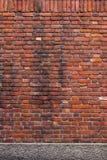 Vieux mur de briques orange Photo libre de droits