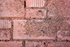 Vieux mur de briques peint Images stock