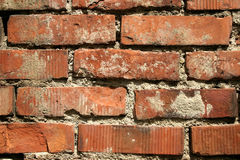 Vieux mur de briques rouge images stock