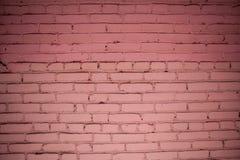 Vieux mur de briques rouge détaillé Photo stock
