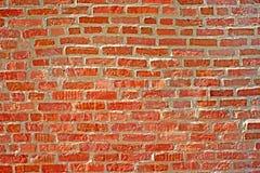Vieux mur de briques rouge. Fond Photo libre de droits