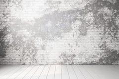 Vieux mur de briques vide illustration stock