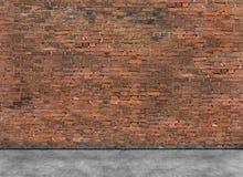 Vieux mur de briques vide avec le premier plan Photos stock