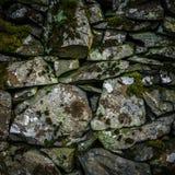 Vieux mur de pierres sèches Images libres de droits