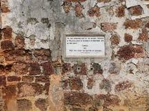 Vieux mur de Porta De Santiago au Malacca Photographie stock