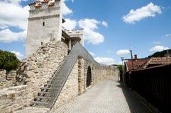 Vieux mur de ville - Bardejov - Slovaquie Image stock