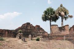 Vieux mur de ville de Chiang Mai Thailand Images libres de droits