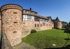 Vieux mur de ville dans Buedingen Images libres de droits