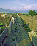Vieux mur de ville en Dali, Chine Images stock