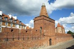 Vieux mur de ville de Varsovie photographie stock libre de droits