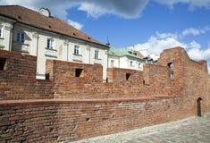 Vieux mur de ville de Varsovie image libre de droits
