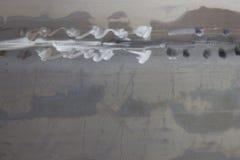 Vieux mur en acier pour le fond Photos libres de droits