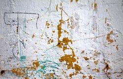 Vieux mur en béton Photographie stock libre de droits