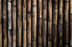 Vieux mur en bambou pour le fond Image stock
