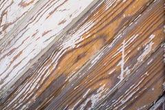 Vieux mur en bois avec la peinture d'épluchage Texture photographie stock libre de droits