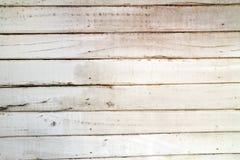 Vieux mur en bois blanc Photo libre de droits