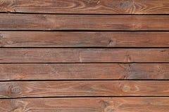 Vieux mur en bois brun, texture détaillée de photo de fond Fin en bois de barrière de planche  Images stock