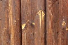 Vieux mur en bois brun, texture détaillée de photo de fond Fin en bois de barrière de planche  photographie stock libre de droits