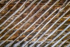Vieux mur en bois de émiettage Photos libres de droits