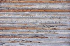 Vieux mur en bois de la maison des conseils Images libres de droits