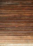 Vieux mur en bois de maison de logarithme naturel Photos libres de droits