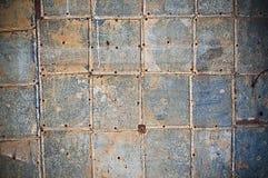 Vieux mur en métal Photographie stock