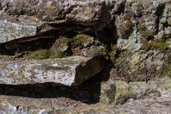 Vieux mur en pierre Image stock