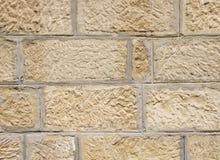 Vieux mur en pierre avec la fugue de ciment Photographie stock libre de droits