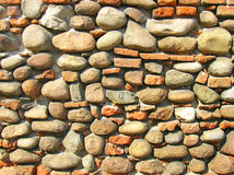 Vieux mur en pierre du château Images libres de droits