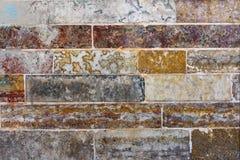 Vieux mur en pierre Effet de vintage Ton rouge images libres de droits
