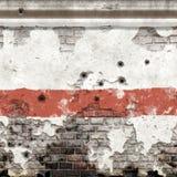 Vieux mur endommagé illustration stock