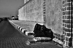 Vieux mur Essaouira Maroc de forteresse Images libres de droits