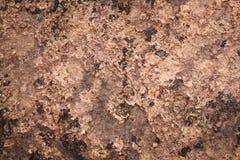 Vieux mur extérieur en métal rouillé Image libre de droits