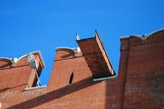 Vieux mur fait de briques rouges Moscou Kremlin Photo couleur photographie stock libre de droits