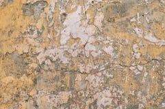 Vieux mur jaune Image libre de droits